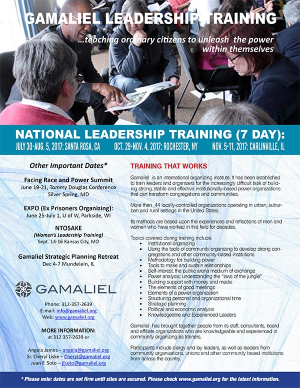 Gamaliel-Leadership-Training_Flyer
