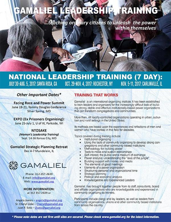 Gamaliel-Leadership-Training_Flyer