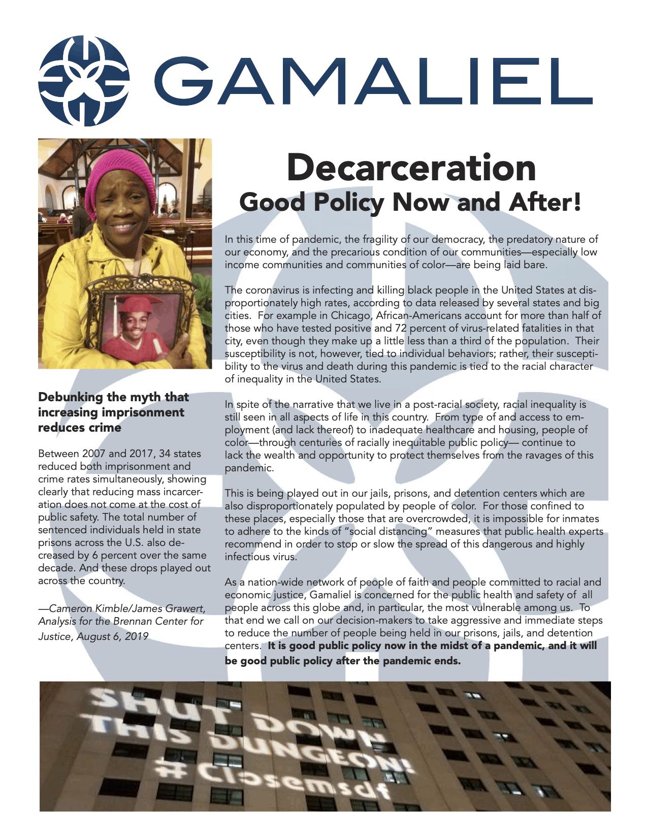 Decarceration - Good Public Policy